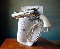 omg a gun hairdryer!!