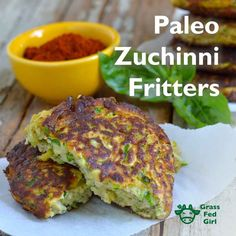 Summer means zucchini! You'll want to add these paleo zucchini fritters to your recipe collection. It's great to have healthy fats, protein and low glycemic vegetables all in one. These are so easy and taste great. Paleo Zucchini Recipes, Zucchini Fries, Healthy Recipes, Zuchinni Fritters, Paleo Meals, Healthy Fats, Diet Recipes, Clean Recipes, Real Food Recipes