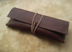 Leather Pencil Case Pen Pouch Sunglasses Case Leather by SoLove, $28.00