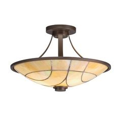 Kichler Lighting 69125 2 Light Spyro Semi Flush Ceiling Light, Olde Bronze®