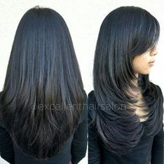 "Foto de Excellent Hair Salon & Spa - ""Haircut and style by Kim"" - Fremont, CA Haircuts For Long Hair With Layers, Haircuts Straight Hair, Long Layered Haircuts, Trendy Haircut, Medium Hair Cuts, Long Hair Cuts, Medium Hair Styles, Short Hair Styles, Hair Color And Cut"