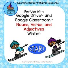 This winter themed activity for use with Google Drive™ or Google Classroom™ provides self-correcting practice in identifying nouns, verbs, and adjectives. Students will love this engaging parts of speech activity. #EnglishLanguageArts #Grammar #Vocabulary #1stgradeELA Teacher Pay Teachers, Teacher Resources, Teaching Ideas, Learning Centers, Fun Learning, Parts Of Speech Activities, Start Of Winter, Nouns And Verbs, Thinking Of Someone