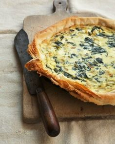Leak, Pesto and Ricotta pie bet this would be good with provolone, caramelized onion and bacon
