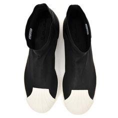 スーパースターアンクルブーツ ADIDAS X RICK OWENS BLACK & BONE SUPERSTAR ANKLE BOOTS | RICK OWENS リックオウエンス | メンズ - 靴 - ブーツ | black/ bone | 海外通販ならLASO(ラソ)