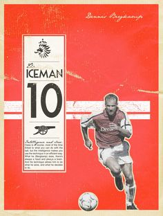 bergkamp-poster Arsenal Football, Arsenal Fc, Football Team, Soccer Art, Soccer Poster, Retro Football, Football Design, Arsenal Pictures, Dennis Bergkamp