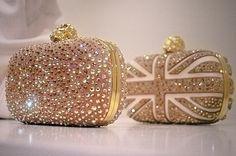 Swarovski crystals fashion sparkle mcqueen clutches