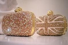 Swarovski crystals fashion sparkle mcqueen clutches