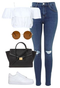 \u0026quot;Nike Air Force 1 Low\u0026quot; by perrieanddaniellestyle ? liked on Polyvore featuring NIKE,