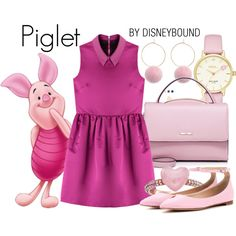 A Winnie the Pooh fashion look from January 2017 by leslieakay featuring McQ by Alexander McQueen, Gianvito Rossi, WithChic, Kate Spade, Michael Kors, disney, disneybound, winn...