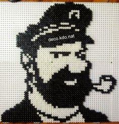 Captain Haddock - Tintin hama perler beads by  Deco.Kdo.Nat