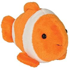 Clown Fish Bean Filled Plush Stuffed Animal >>> Check out this great product. (This is an affiliate link) #StuffedAnimalsPlushToys