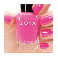 Zoya Rooney - Rooney by Zoya can be best described as a mid-range magenta pink cream with balanced undertones to flatter most skin tones. Flawlessly opaque in 2 coats. Color Family - Pink , Finish - Cream , Intensity - 5 ( 1 = Sheer - 5 = Opaque ) , Tone - Cool .