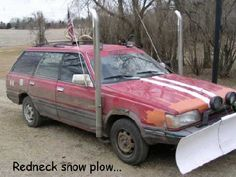 Redneck Snow Plow