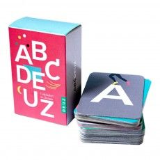 ABCDeuz Bilingual Flashcards Multicoloured