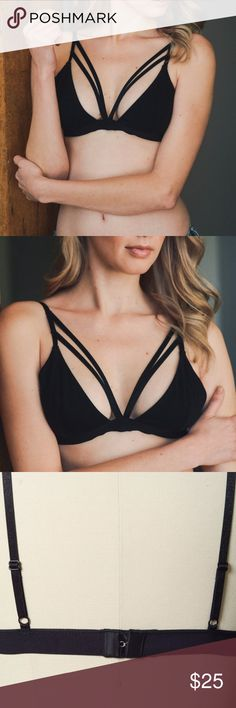 NOW AVAILABLE!! Black Bralette NOW AVAILABLE !!  Double Strap Bralette Color black 95% Cotton 5% Spandex Cup Fit  XS/S: 32B, 34A, 34B M/L: 34B, 36A,36B  Will consider offers Intimates & Sleepwear Bras