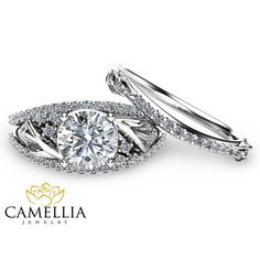This calla lily design engagement ring set is a brilliant choice to slip on your beloveds finger. It features a 1 carat forever brilliant moissanite nestled within a 14K white gold band with floral accents. Sparkling diamonds complete the design in elegance. This unique engagement ring set is guaranteed to capture her heart and cement your love for time eternal. Most importantly, it is comfortable to wear which is essential for a woman who is not accustomed to wearing rings. The durability…