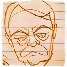 My Ron Swanson (from NBC's Parks and Rec) sketch (first posted @Bo Kaier instagram)