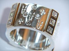 Handmade Chunky Sterling Silver 925 Ring with Yellow by DOGSTONE, £975.00