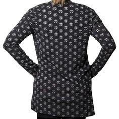 Pi Symbol Polka Dots Burnout Cardigan - Svaha Apparel