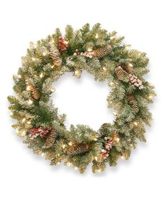 Take a look at this Dunhill Fir Lighted Wreath by National Tree Company on #zulily today!