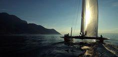 De retour du Bouveret dans les petits airs lors du Bol d'Or Mirabaud #vulcaintrophy #sailing #catamaran