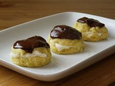 Vegan cream puffs. You'd never believe what she made the pastry cream with :)
