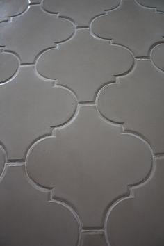 Large Arabesque Cement Floor Tile In Antique White By Presidio