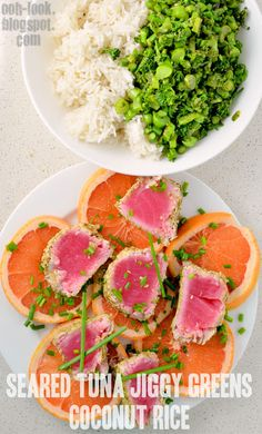 Jamie Oliver's 15 Minute Meals - Seared Tuna, Jiggy Greens and Coconut Rice