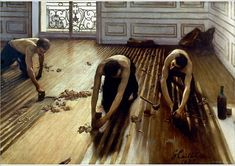 An poster sized print, approx (other products available) - CAILLEBOTTE: PLANERS, <br>The Floor Planers. Oil on canvas by Gustave Caillebotte. - Image supplied by Granger Art on Demand - Poster printed in the USA Find Art, Buy Art, French Paintings, Modern Paintings, Art Paintings, Poster Prints, Art Prints, Framed Artwork, Art History