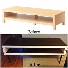 DIY Ikea hack! Lack tv stand to mid century inspired