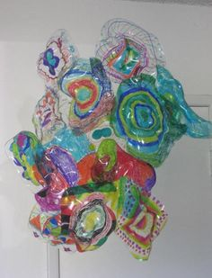 (Playing around with composition)                 My Mini Modern Artists took a look at the work of Amercian glass sculptor, Dale Chihuly...