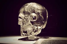 The British Crystal Skull.  It is currently residing in the British Museum of Man in London, England,  and has been there since 1898. It is a one piece clear quartz full size quartz crystal skull.
