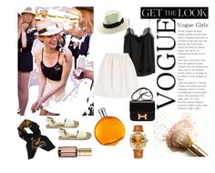 """Diane Kruger-hat"" by denisse-ponce ❤ liked on Polyvore featuring H&M, Kaanas, Rolex, Hermès, Alberta Ferretti, L'Oréal Paris, GetTheLook and hats"