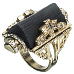 Teatro Moderne Gold Barrel Ring :: New :: Jewelry :: Alexis Bittar