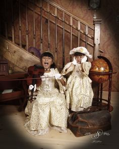 Gorgeous in gold! Two beautiful little southern belles making a ruckus at Silk's Saloon Olde Tyme Photos in Glenwood Springs, CO. Girl Photo Shoots, Girl Photos, Old Time Photos, Southern Belle, Portrait Photo, Colorado, Hipster, Photoshoot, Kids