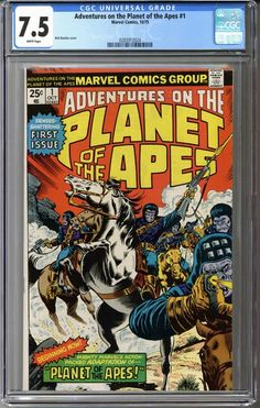 Adventures on the... ... it can be yours!    http://coloradocomics.com/products/adventures-on-the-planet-of-the-apes-1-cgc-7-5?utm_campaign=social_autopilot&utm_source=pin&utm_medium=pin