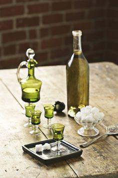 absinthe set, love the glassware Green Fairy Absinthe, Artemisia Absinthium, Aromatic Herbs, Tea Art, Whisky, Wines, Liquor, Alcoholic Drinks, Beverages