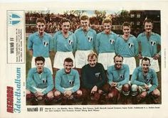 Malmo FF of Sweden team group in Football Team, Sweden, Baseball Cards, Retro, 1950s, Sports, Group, Picture Cards, Statistics