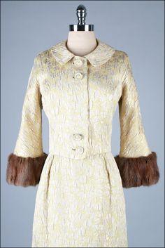 1960s - brocade & rabbit fur