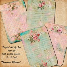 Instant Download  SUMMER BLOOMS  High by CountryAtHeart2008, $4.99