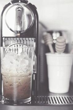 Ice coffee time, nespresso citiz & milk on We Heart It I Love Coffee, Coffee Break, Iced Coffee, Coffee Drinks, Coffee Shop, Coffee Cups, Krups Coffee, Coffee Mornings, Sweet Coffee