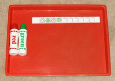 Montessori Christmas activities: Christmas-themed patterning practice || Gift of Curiosity