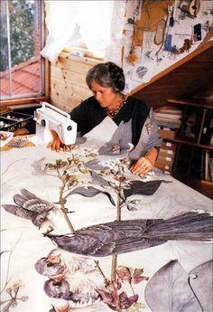 Annemieke Mein . Dutch-Born Australian Textile Artist. depicting wildlife