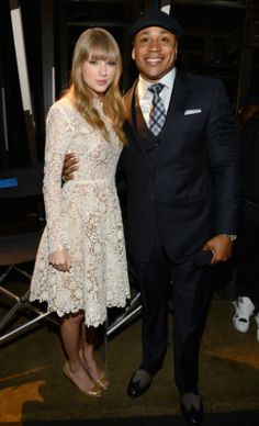 "Co-hosts Taylor Swift and LL Cool J backstage at ""The GRAMMY Nominations Concert Live!! — Countdown To Music's Biggest Night"" on Dec. 5 in Nashville #TheWorldIsListening    Photo: Larry Busacca / WireImage.com"