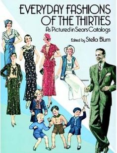 1930's fashions for women | 1930s fashion is interesting, since the 30s started out with the Great .../