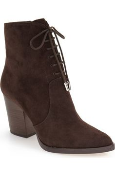 Marc Fisher LTD Aaliyah Pointy Toe Lace-Up Bootie (Women) available at #Nordstrom