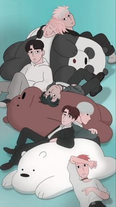Monsta X and We bare bears Wallpapers Tumblr, Panda Wallpapers, Cute Cartoon Wallpapers, Bear Wallpaper, Disney Wallpaper, We Bare Bears Wallpapers, Monsta X Wonho, Shownu, Jooheon