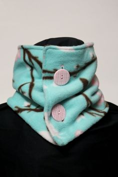 Neck Warmer Fleece Bird and Flower by TheCozyAvenue on Etsy, $14.99                                                                                                                                                                                 More