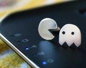 heart stud earrings contrasting hearts everyday studs girlfriend gift love jewelry. $39.00, via Etsy.