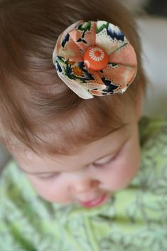 DIY Fabric Flower Hair Clip